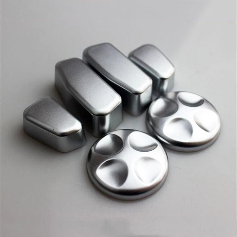 new high quality 6pcs/set ABS silver Auto Seat Adjustment Button Knob Cap Frame Moulding Trim For JEEP Cherokee 2014-2016