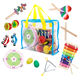 Wooden 14pcs Music Instrument Kit Kids Early Education Music Game Set Musical Instrument Toy Educational Toy