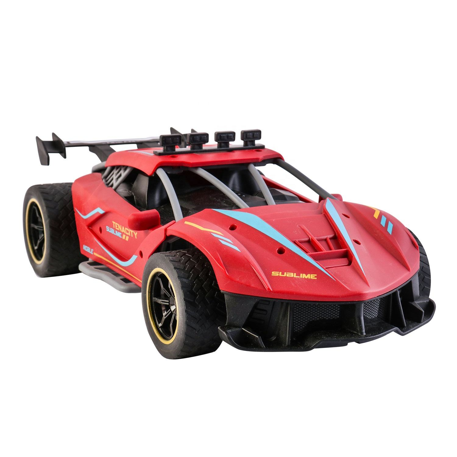 High Speed 1:12 Scale Racing Light Toys Truck Rc, Electric Drifting Smoking Remote Control Car Spray
