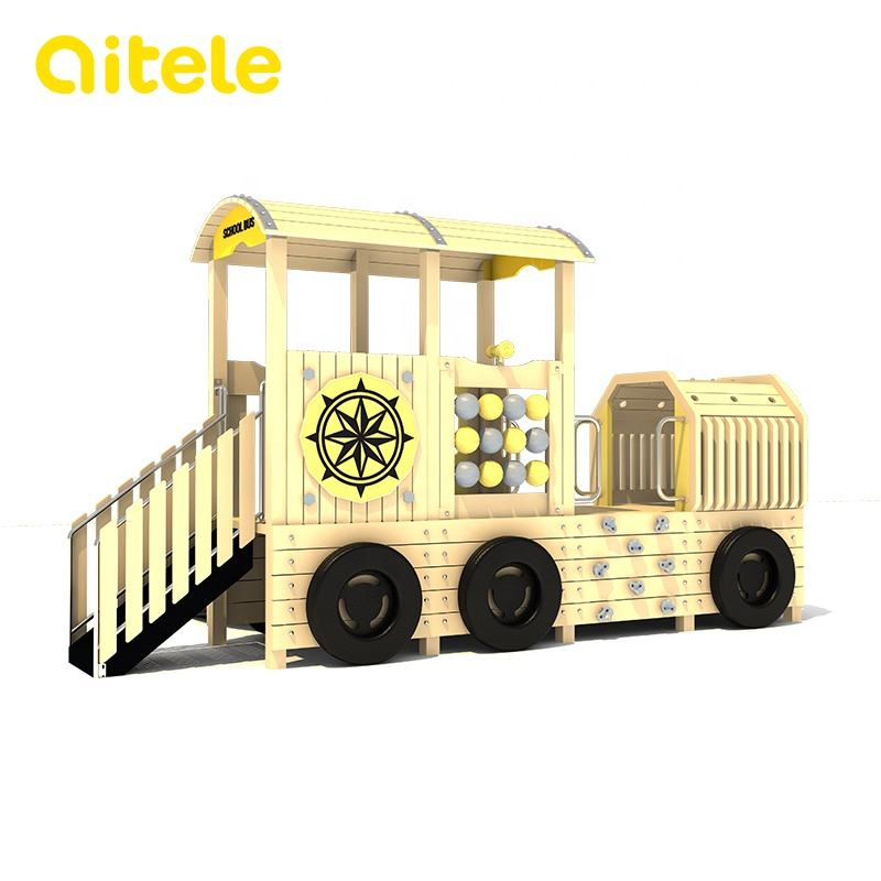 kids outdoor children train playground wooden theme outdoor parks equipment