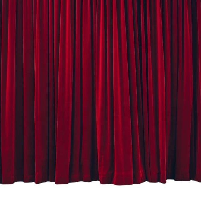 Custom Made Fire Retardant Velvet Church Stage Curtain