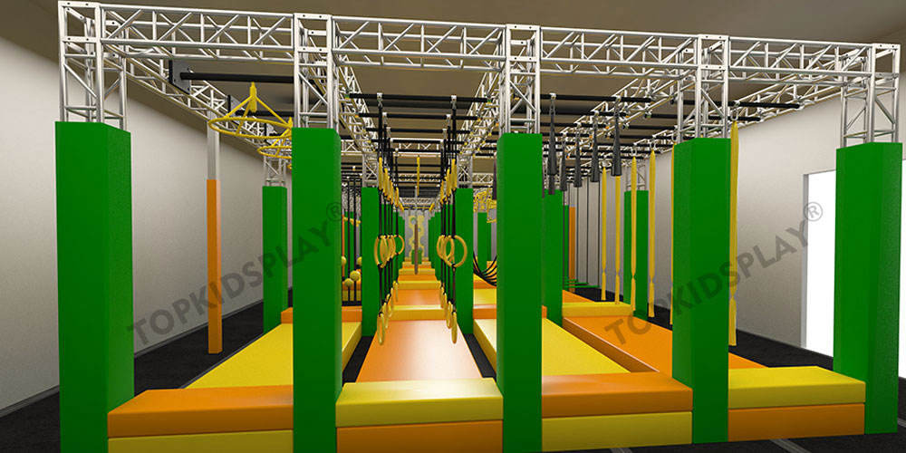 Professional New Design Commercial Challenge Roller Coaster Indoor Zipline Outdoor Equipment For Sale