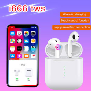 Hot New Products i666 Tws Bt 5.0 Touch Key Automatic Matching Stereo Wireless Double In-Ear i666 Tws Headset With Mic