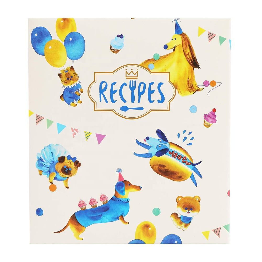 Recipe Organizer Binder Set With Recipe Cards Dividers And Plastic Page Protectors