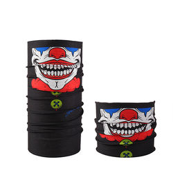 Multifunctional outdoor sports polyester stretch neck tube skiing skull face Seamless bandana