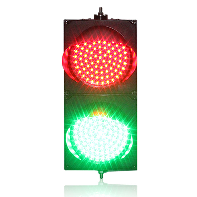 Road safety PC housing 200mm red green led traffic light