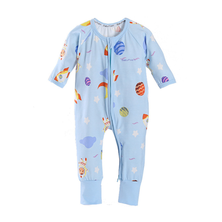 Super soft baby sleepwear 100% cotton pajamas for baby girls jumpsuit