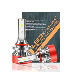 LED light wholesale automobile waterproof  H1 H3 H11 9005 9006 H7 H4 high and low beam bulb automobile LED headlight
