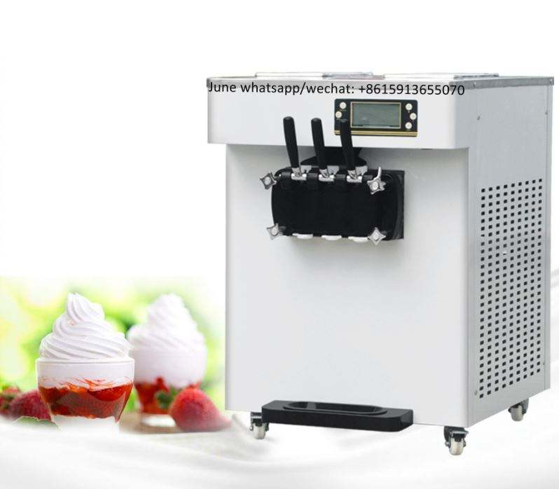 New snack commercial frozen yogurt maker air pump soft ice cream vending machine mcdonalds ice cream machine