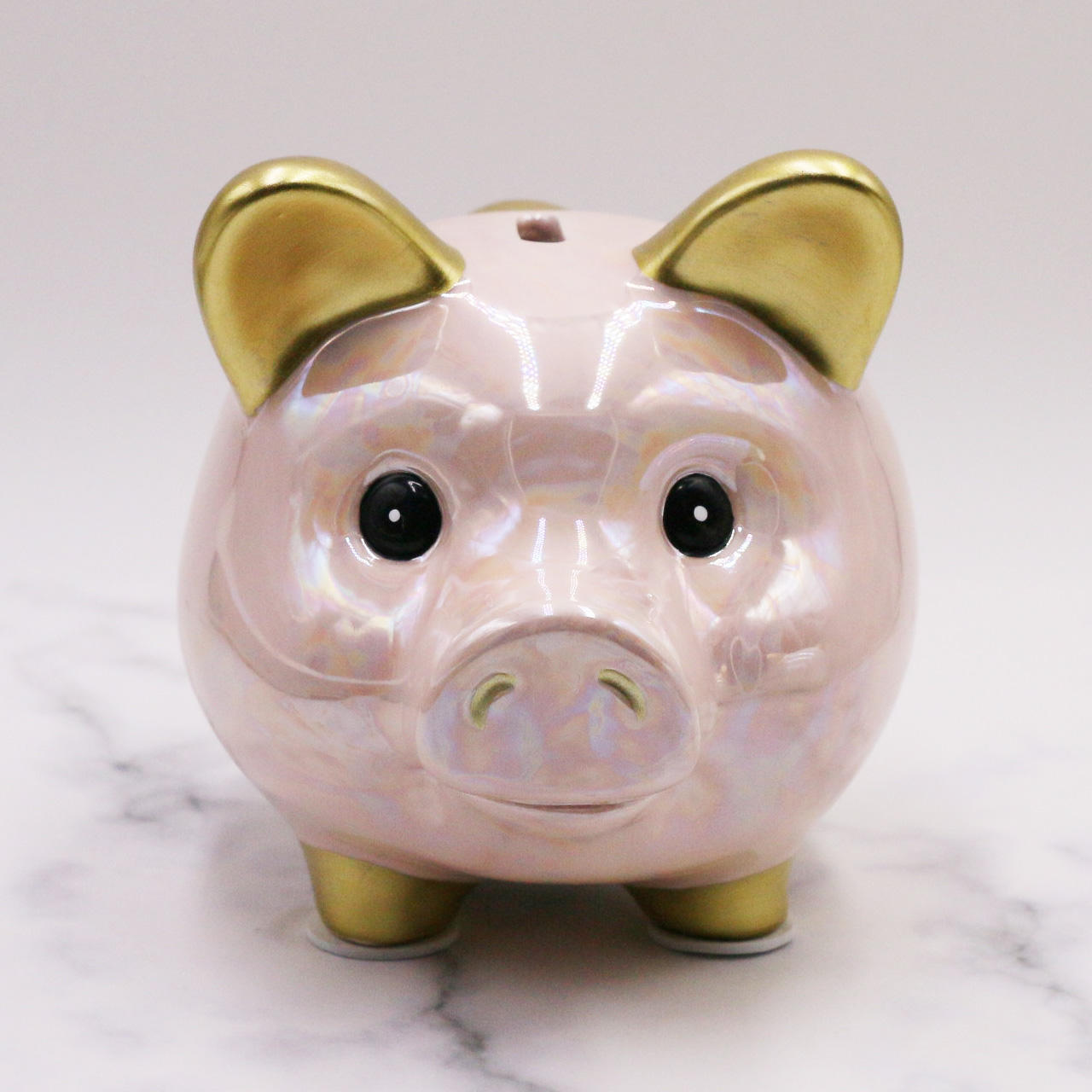 Custom Ceramic Pink Home Piggy Bank