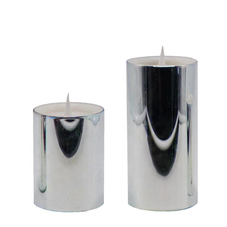Plan de Marketing nuevo producto de plata sin llama Pilar vela, sostenedor de vela de plata de