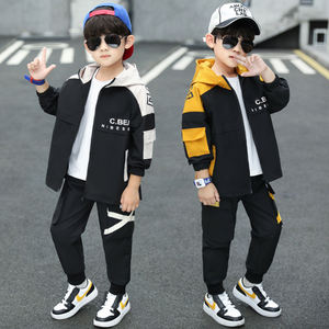 CCYH high quality autumn boys clothes sweat suits with hoodie zipper for clothing child set sportswear