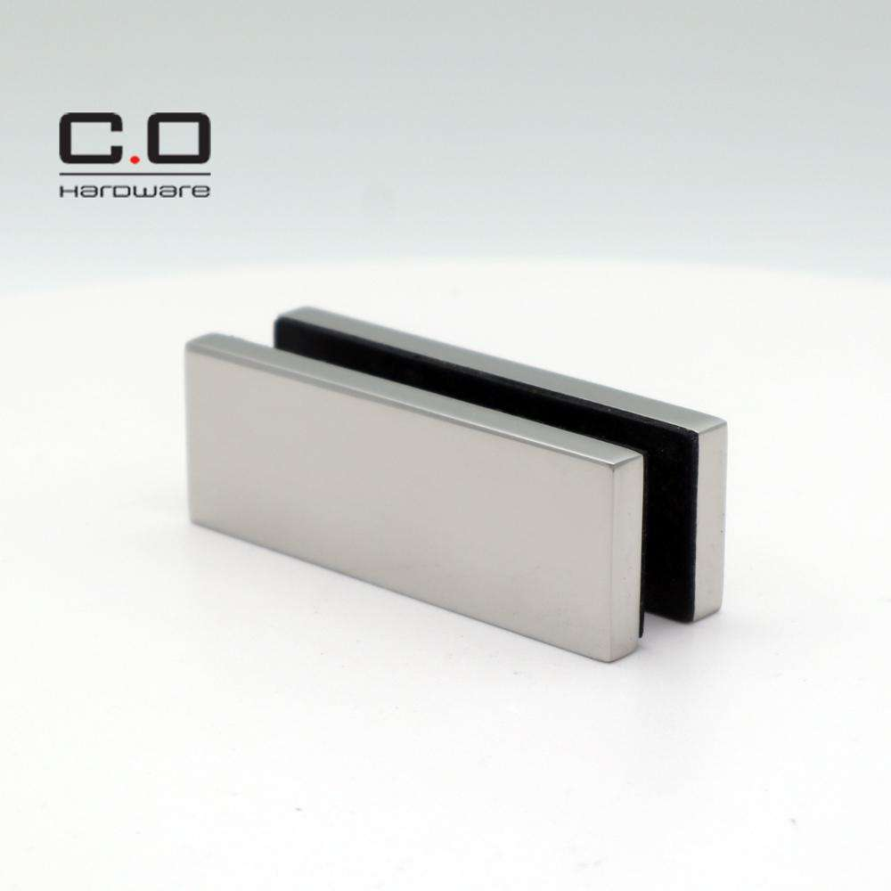 Rectangle shape U channel high quality stainless steel material glass standoff glass bracket