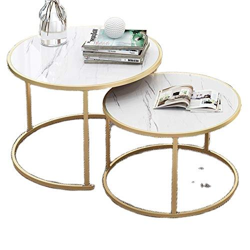 Golen Modern marbling round tea table sofa side simple wrought steel coffee table