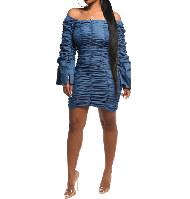 Plus Size Denim Dress Wash Out Denim Dress Ladies Denim Dress