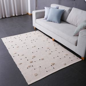Ecofriendly cotton woven hand threading and tufting kids floor kids rug carpet for baby playroom