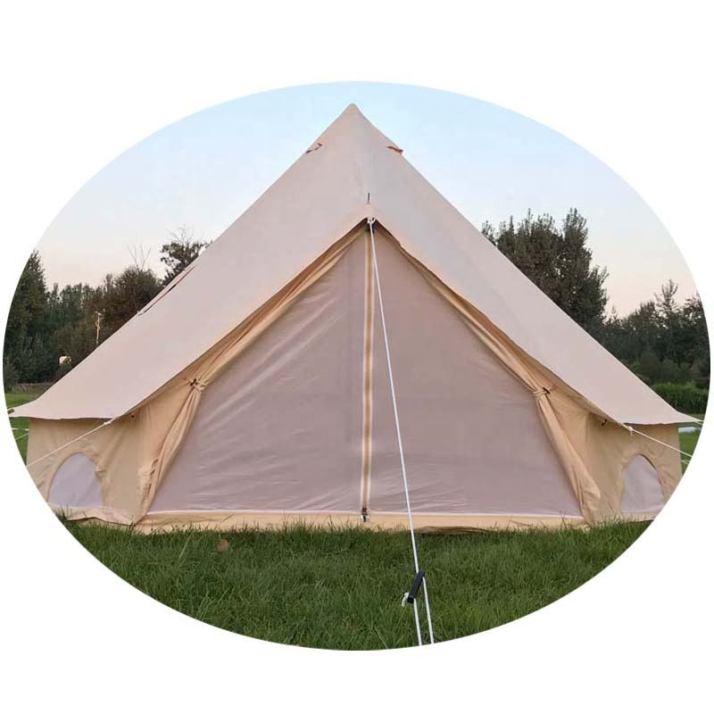 supply ZIHAN UK canvas cotton 5m durable waterproof cotton bell tents glamping canvas tents polyester bell tents for family