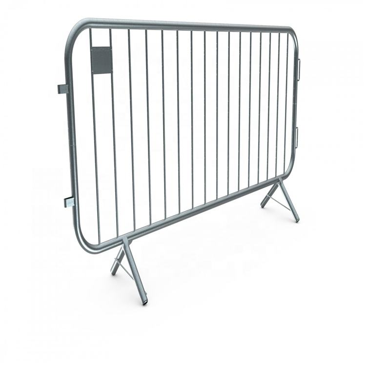 Metal crowd control barrier for bank queue line