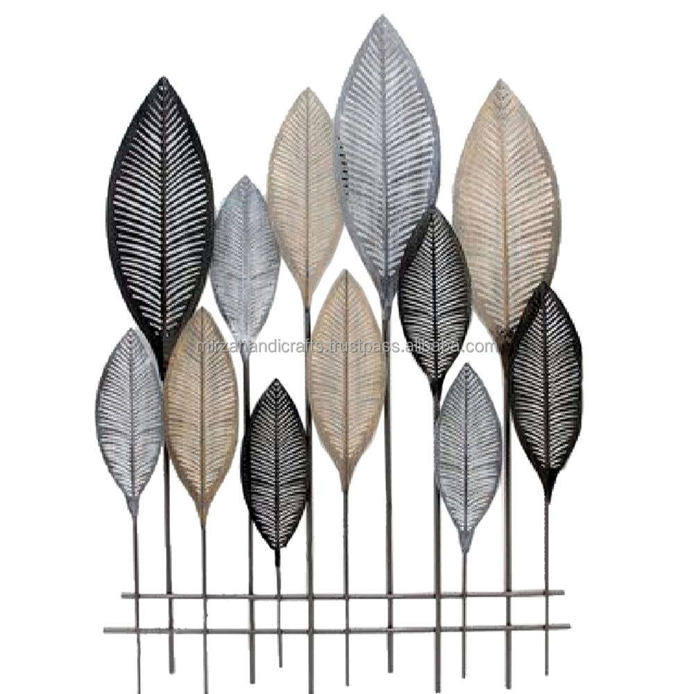 Multi colors Bronze Metal Leaf Wall Decor