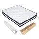Hotel room furniture high quality full queen king size pillow top vacuum compressed pocket spring memory foam latex bed mattress