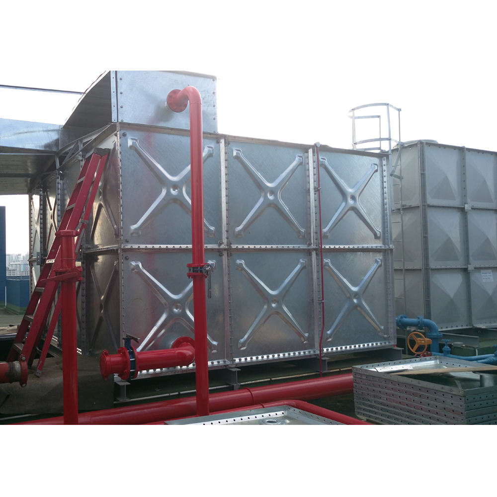Square Type Stainless Steel Water Tank 1000 Liters Modular Panels Water Hydro Pressed Steel Tank