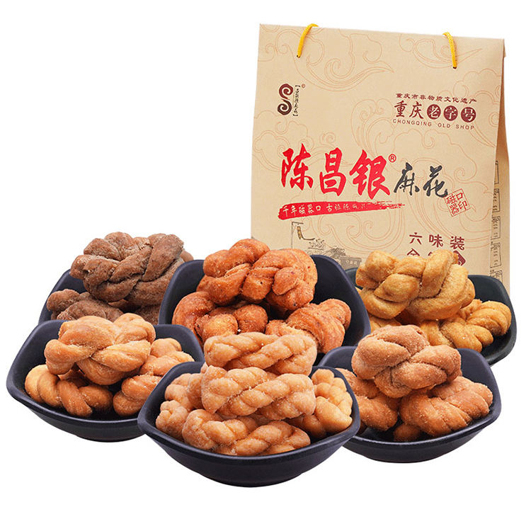 528g Chinese hand make twist Chinese snack traditional food Casual snacks