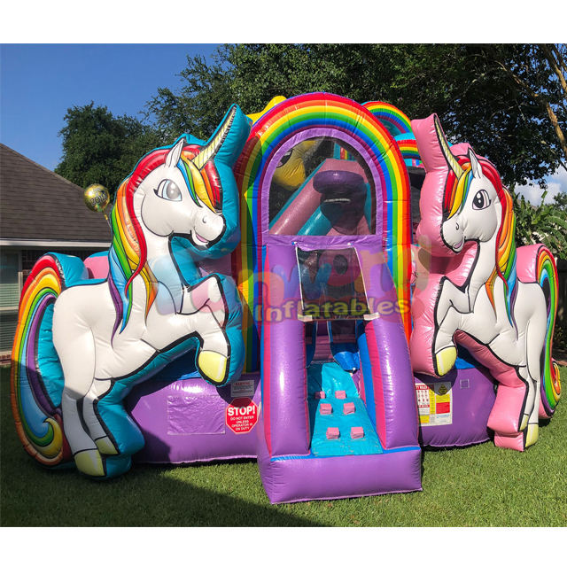 Unicorn commercial bounce houses Inflatable Bouncer bouncy castle commercial