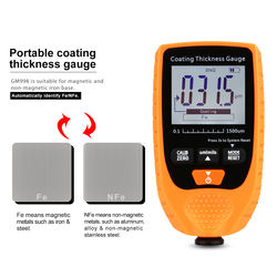 Digital Thickness Gauges Paint Coating Ca Tester With Backlight Film Thickness Gauge