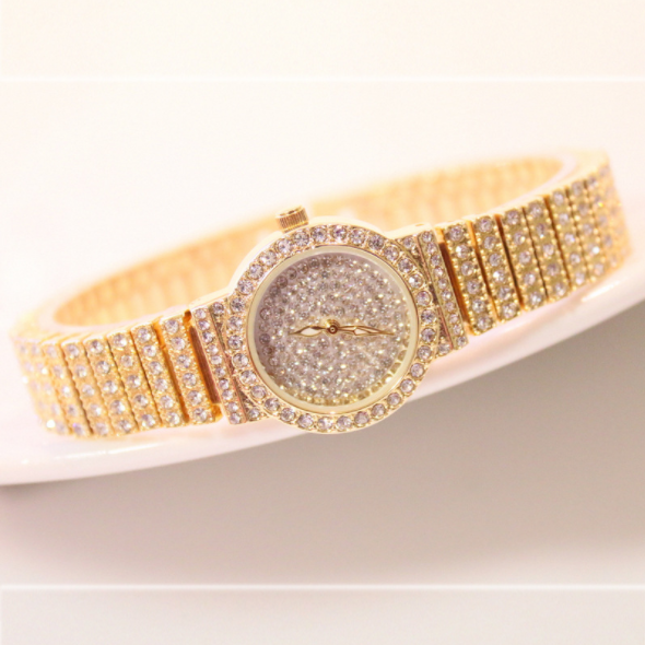 New hot selling BS FA1101 factory direct luxury full diamond ladies watch fashion steel band wristwatches high quality