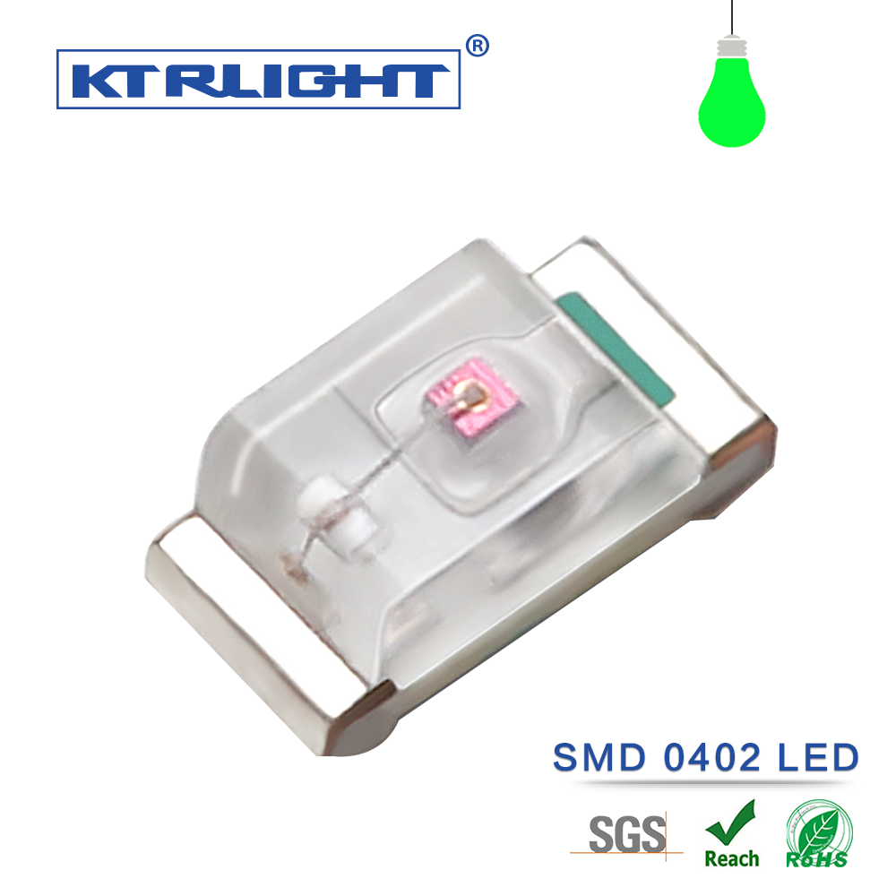 Free Sample Surface Mount 0402 Green 1.0*0.5*0.4mm Led Chip 3000pcs a reel