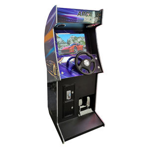 Muntautomaat Ontlopen Video Arcade Auto Racing Houten Kast Elektronische Video Game Machine Te Koop