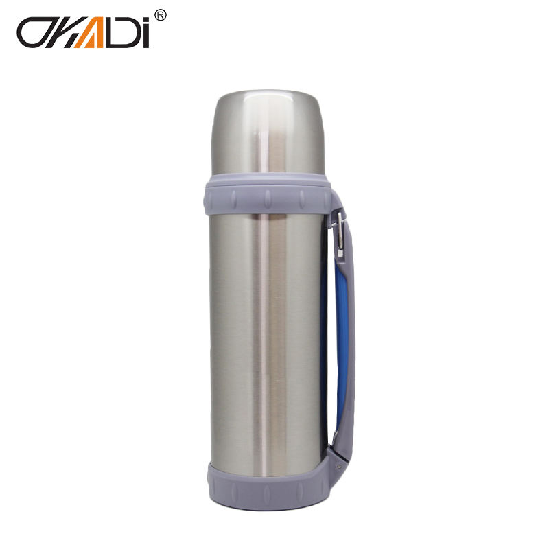 OKADI Hot products 1.8L Large Stainless Steel Big Thermos Water Bottle For Outdoor Travelling Wholesale 1500ml