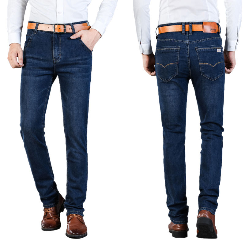 High qualiiy latest male fashion straight blend denim jeans