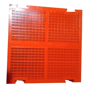 high quality dewatering polyurethane vibration sieve PU mesh plate screen for mining machine