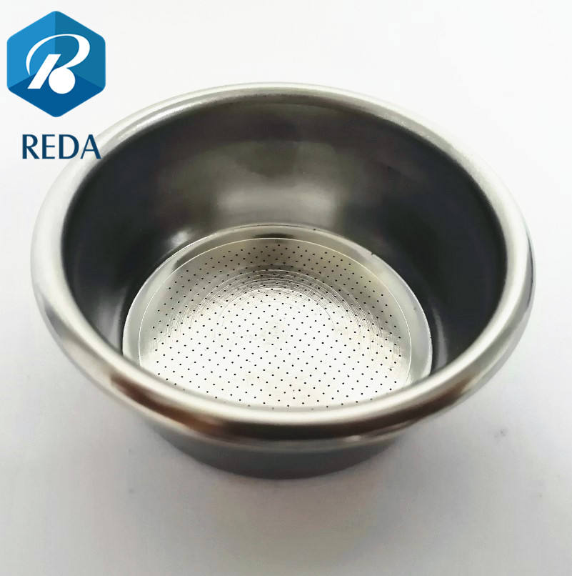 54mm Stainless Steel Powder Bowl Coffee Replacement Filter Basket for portafilter
