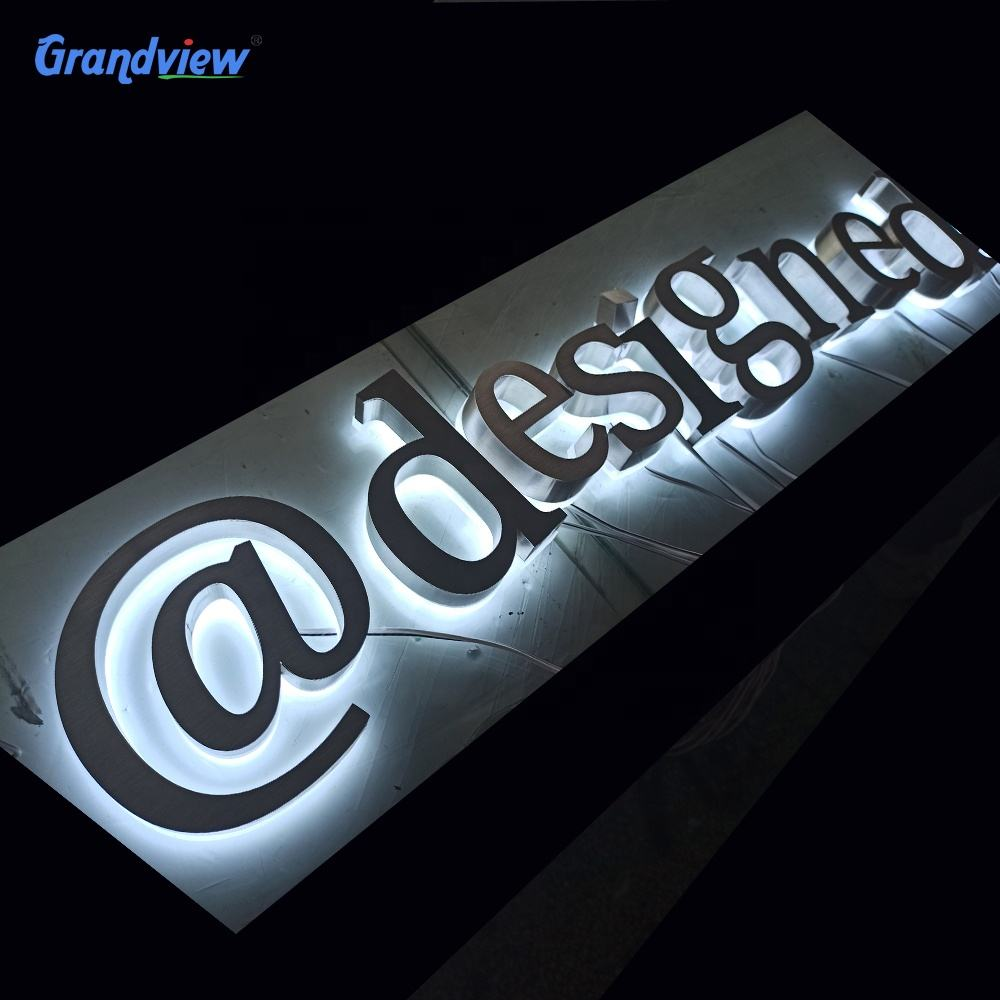 Outdoor Custom Led Metal backlit Sign 3D Letters Channel Letter