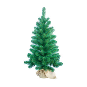 Artificial 90cm Xmas Holiday Decoration Mini Table Christmas Tree with Linen Base