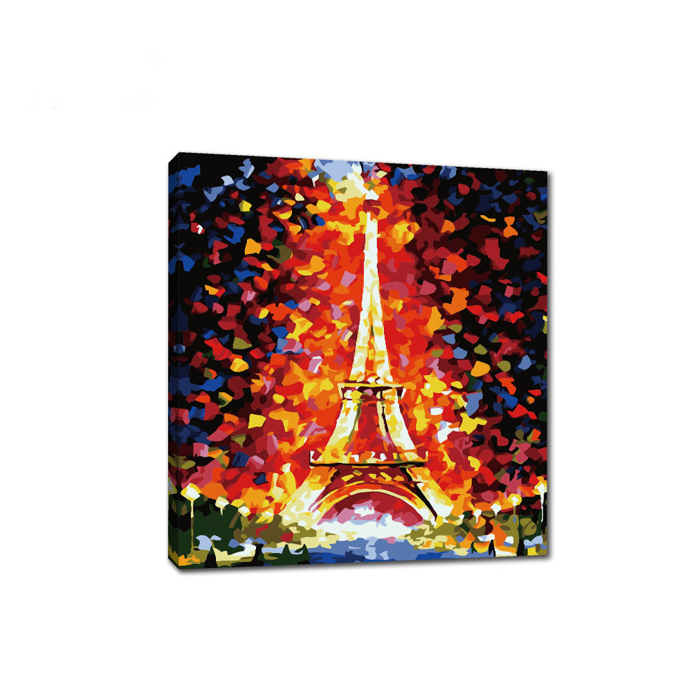 Wholesale DIY Eiffel Tower Unique Landscape Canvas Oil Painting By Number