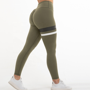 Sexy Girls Wearing Compression Gym Leggings 4 Way Stretch Scrunch Butt Yoga Pants Women