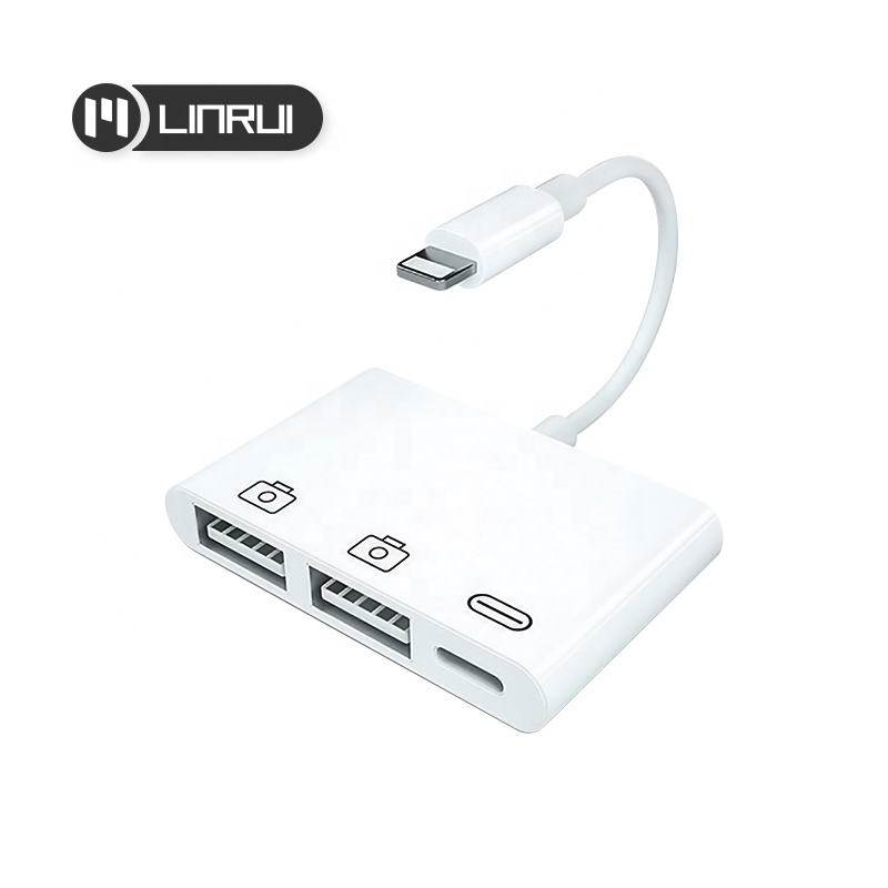 Original quality 3-in-1 converter charging data Transfer video output for iphone and ipad