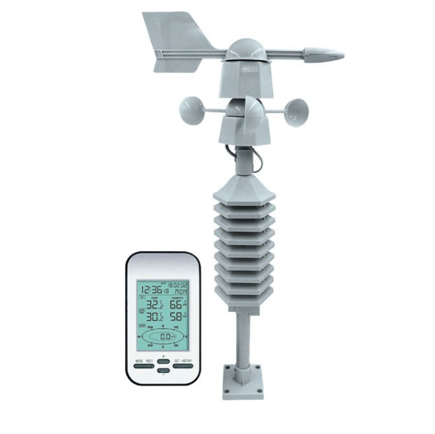 WS0232 Household and Forecast Wireless Weather Station With Anemometer Thermometer Professional Weather Station