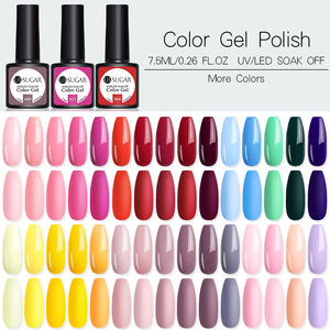 Ur Suiker 122 Kleuren 7.5 Ml Effen Kleur Shimmer Nail Art Uv Gel Soak Off Nail Gel Polish