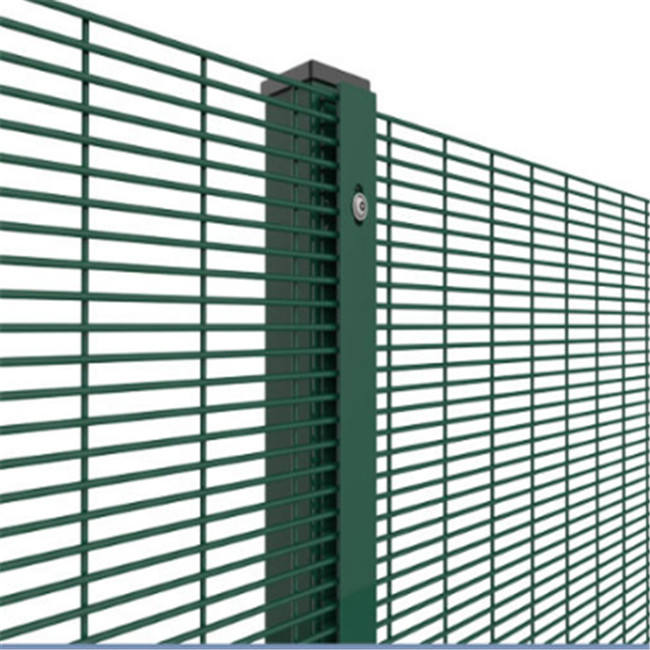 Anti Climb 4mm Wire 358 Security Welded Mesh Fence For Boundary Wall