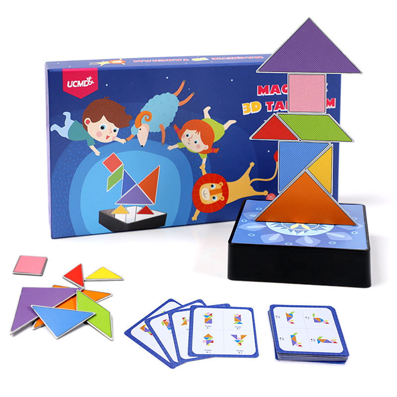 UCMD 3D Magnet Metal Magnetic Girls Toys Games Indoor Jigsaw Puzzles 3d Puzzle For Kids