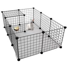 Indoor DIY folding combination free metal pet dog playpen iron net fence for animal rabbit playing