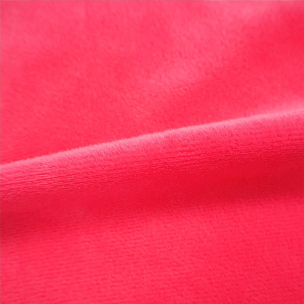 Rojo de suave terciopelo velboa