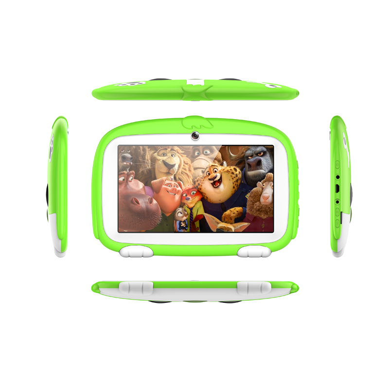 Wholesale Dog Design Kids Android Tablet PC with Two Camera ROM 8G Cheap Tablet for Children