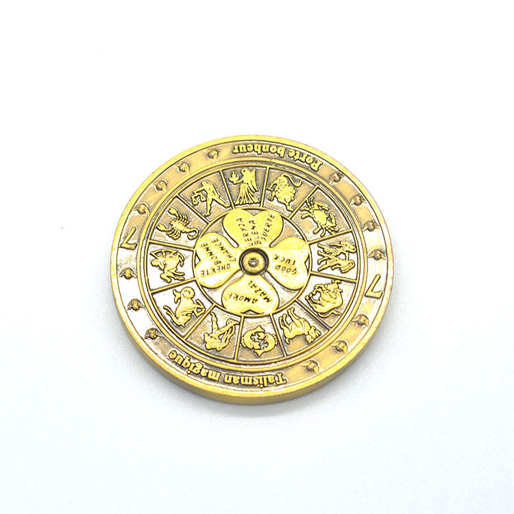 Custom coin maker gold plated coins engraved commemorative collectibles antique metal coin