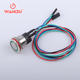 Button Switch Wire WANDU 19mm Stainless Steel Anti Front IP68 2NO 6v 12v 24v Ring Red Yellow Blue Led Plastic Push Button Switch With Wire Leads