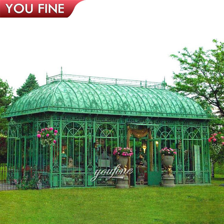 Outdoor Garden Decoration Wrought Iron Large Gazebo for Sale